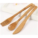 Spoon-knife-fork Bamboo combo